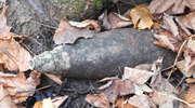 Leśniczy znalazł pocisk artyleryjski