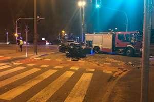 Zderzenie na skrzyżowaniu w Olsztynie. Jedna osoba trafiła do szpitala