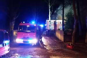 Pożar w zabytkowym dworku w Soplach