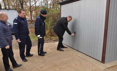 Policjanci z Rynu mają nowy garaż