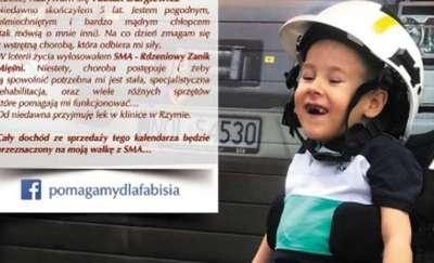 5-letni Fabian walczy ze śmiertelną chorobą.  Strażacy ochotnicy z okolic Olsztyna wydali wyjątkowy kalendarz-cegiełkę