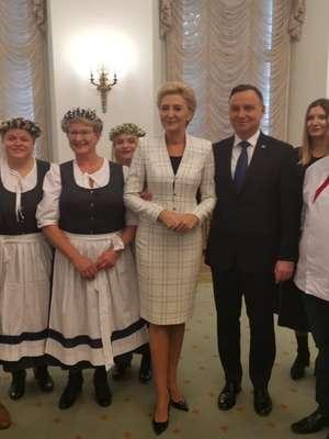 Nasze zdolne gospodynie z Lubajn spotkały się z parą prezydencką
