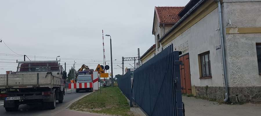 Przejazd kolejowy przy ul. Olsztyńskiej był kilka razy naprawiany