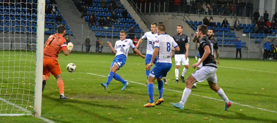 W 45. min Patryk Kubicki z bliska strzelił gola na 1:0