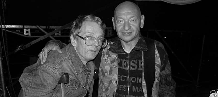 Maj 2007. Tadeusz Skiba (z lewej) w towarzystwie Dariusza Kozakiewicza (gitarzysta Perfectu, ex - Breakout)