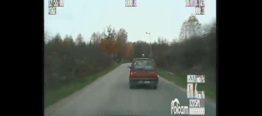 Pościg za pijanym kierowcą TICO [VIDEO]
