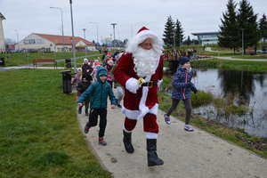 Przebiegli trasę wspólnie ze Świętym  Mikołajem