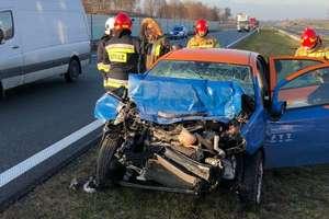 Jedna osoba ranna w wypadku na drodze krajowej S7 w okolicach Małdyt