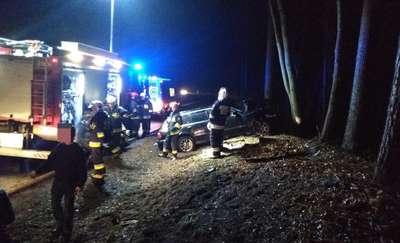 Wypadek na DK 16. Dziecko jedną z rannych osób [ZDJĘCIA]