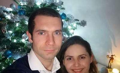 Paweł Pszczółkowski z żoną Moniką