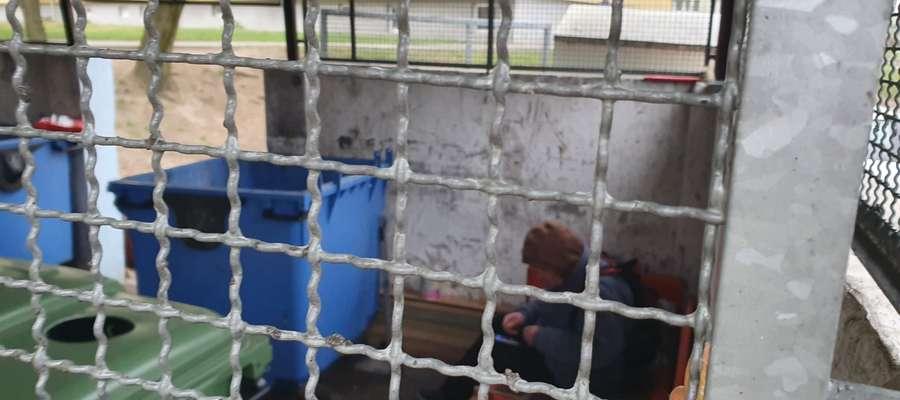 Bezdomni zamieszkali w jednym ze śmietników na ul. Dworcowej