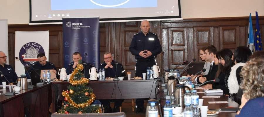 Na spotkaniu rozmawiano też o Krajowej Mapie Zagrożeń Bezpieczeństwa