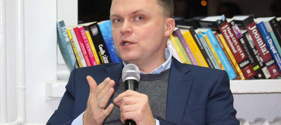 Podczas wizyty w Żurominie Szymon Hołownia nie potwierdzał jeszcze startu w wyborach