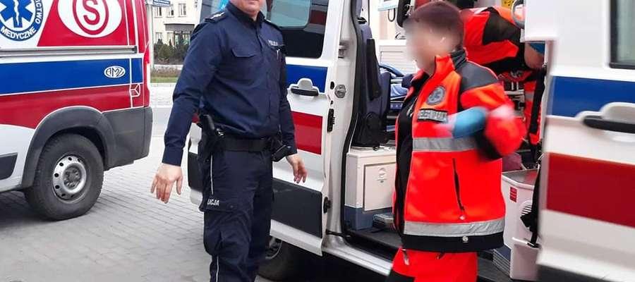 Dzielnicowy Krzysztof Szymański uratował człowieka