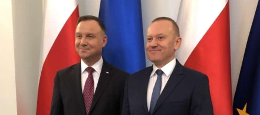 Prezydent Andrzej Duda z prof. Pawłem Wielgoszem