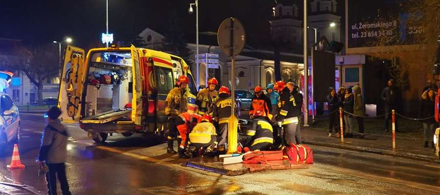 W wypadku na ul. Padlewskiego zarówno pieszy jak i kierowca byli pod wpływem alkoholu