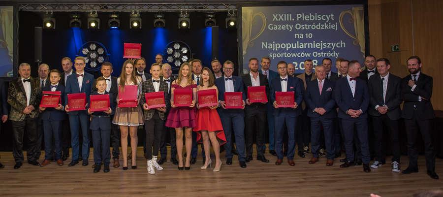 """Najpopularniejsi sportowcy 2018 roku oraz sponsorzy plebiscytu """"Gazety Ostródzkiej"""""""