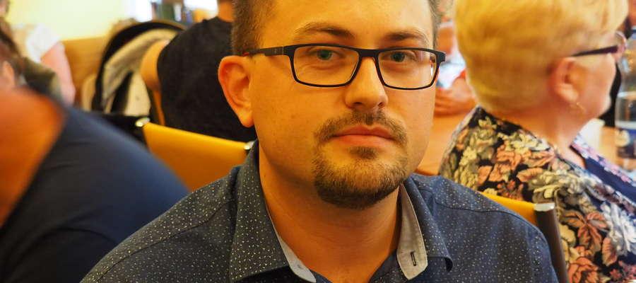 Paweł Majewski, przewodniczący Zarządu osiedla Nr 10 Kozielsk