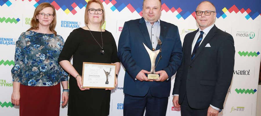 SuperSołtys 2019 powiatu lidzbarskiego Jacek Świniarski oraz Srebrny Sołtys powiatu Sylwia Ciszewska