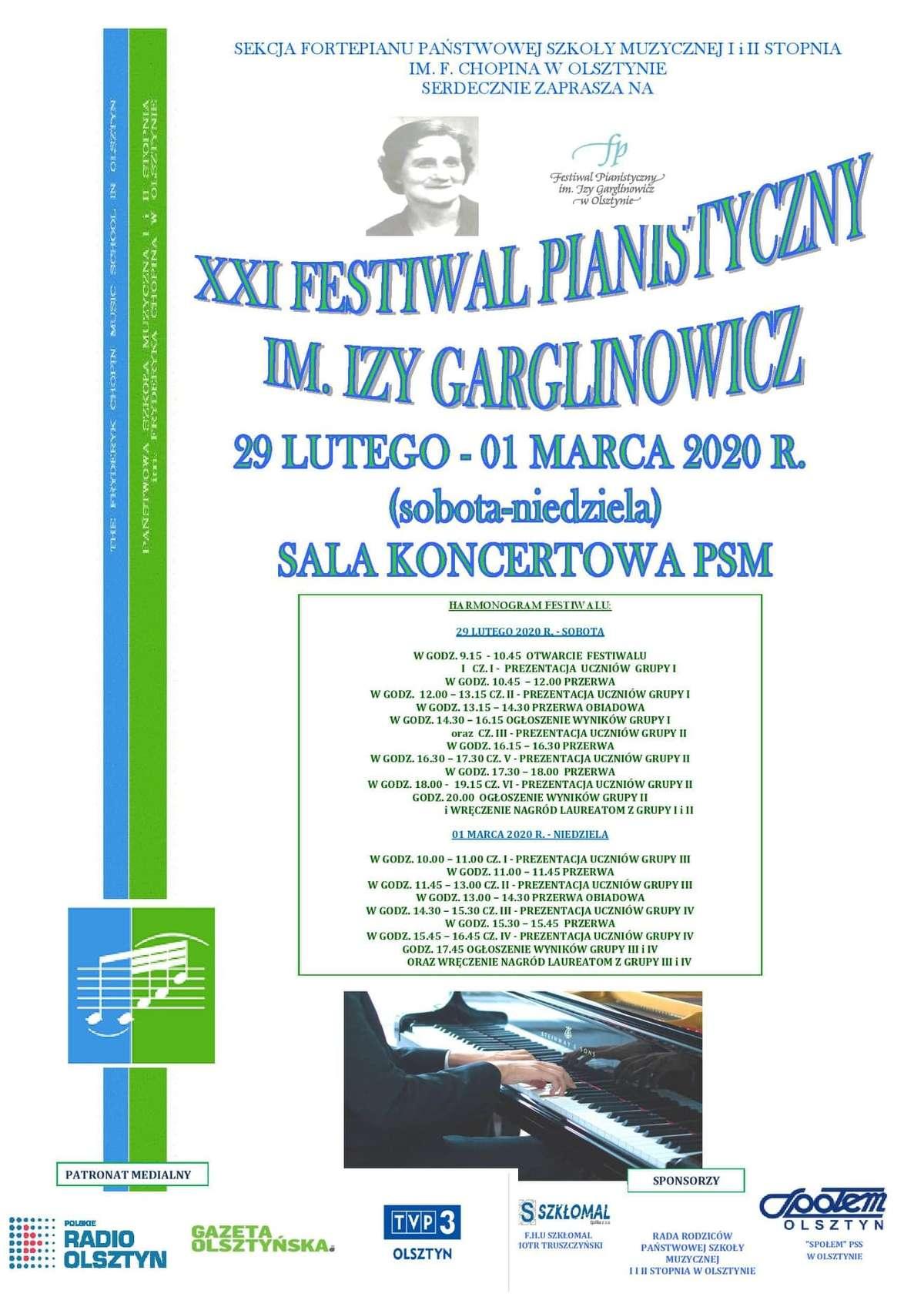 XXI Festiwal Pianistyczny im. Izy Garglinowicz     - full image
