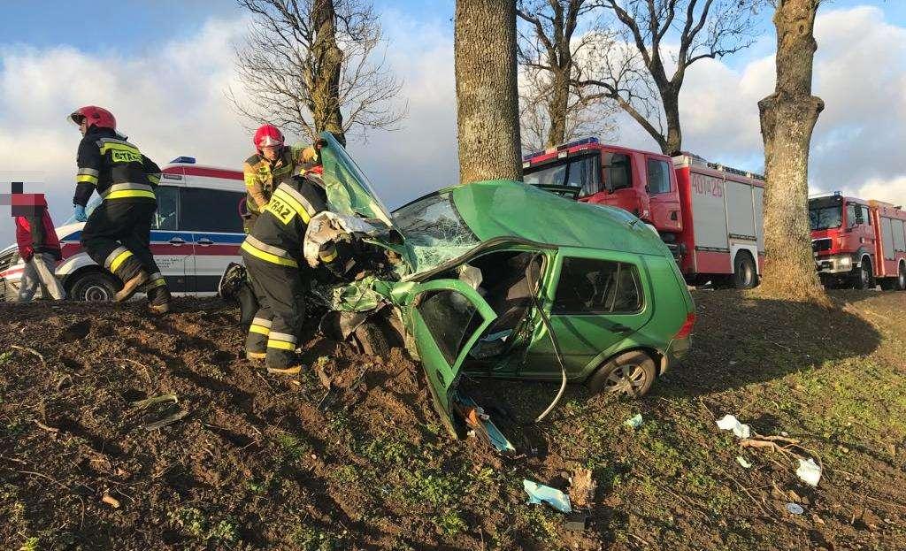 Na trasie Tolko-Rodnowo doszło do wypadku drogowego.