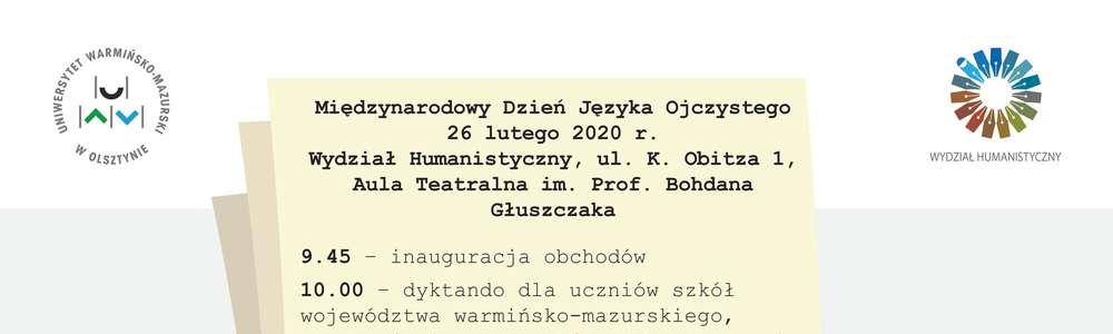 Poloniści z UWM uczczą Dzień Języka Ojczystego