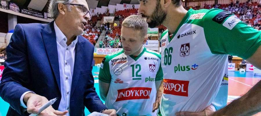 Daniel Castellani, Paweł Woicki i Seyed Mousavi z Indykpolu AZS Olsztyn