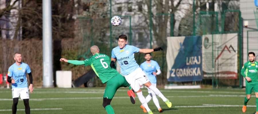Pierwszego gola w sopockim sparingu z Wartą zdobył Sam van Huffel