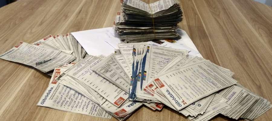 W ostatnim dniu głosowania do redakcji w Ostródzie trafiła taka oto liczba kuponów, zatem liczymy