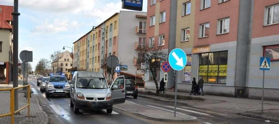 Do zdarzenia doszło przy ul. Kościuszki w Piszu