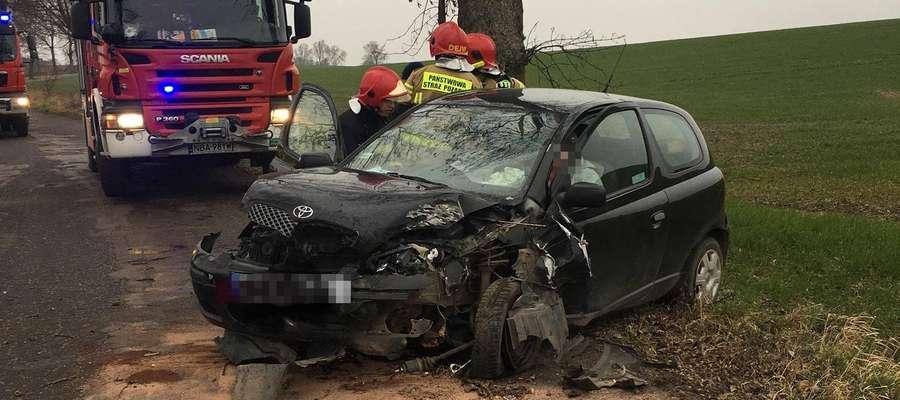 Wypadek drogowy w okolicy Szyliny Wielkiej.