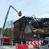 Śledczy badają, co było przyczyną (kolejnego) pożaru dawnego młyna w Iławie [WIDEO, ZDJĘCIA]
