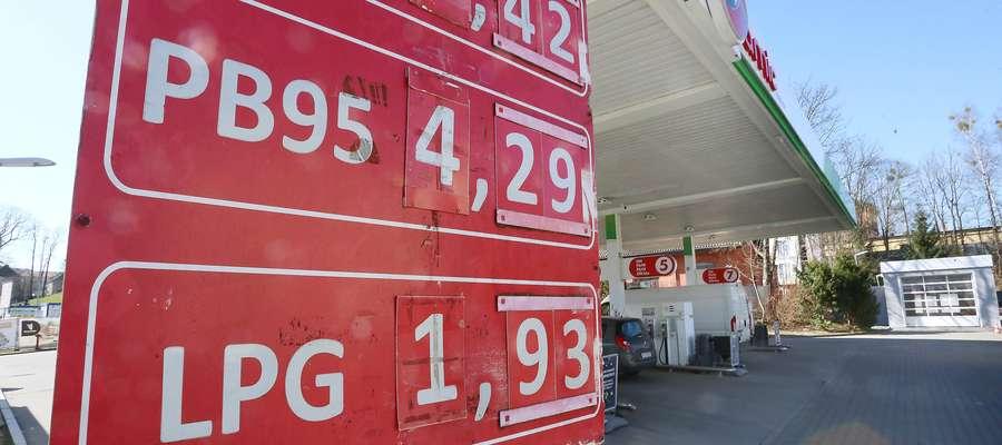 Cena paliw w dół