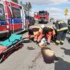 Wypadek na drodze pod Olsztynem. Motorowerzysta trafił do szpitala [ZDJĘCIA]