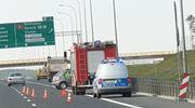 Zderzenie dwóch samochodów osobowych z ciężarówką pod Olsztynem