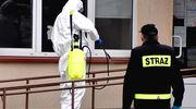 Strażacy przeprowadzili dezynfekcję przychodni w Olecku
