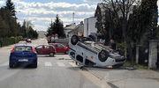 Wypadek na skrzyżowaniu Zachodniej i Kościuszki w Mławie