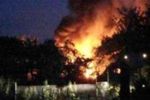 Pożar na terenie ogrodów działkowych. Jedna osoba nie żyje