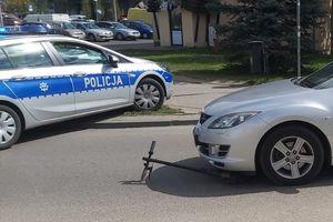 6-letni chłopiec wjechał hulajnogą wprost pod nadjeżdżający pojazd
