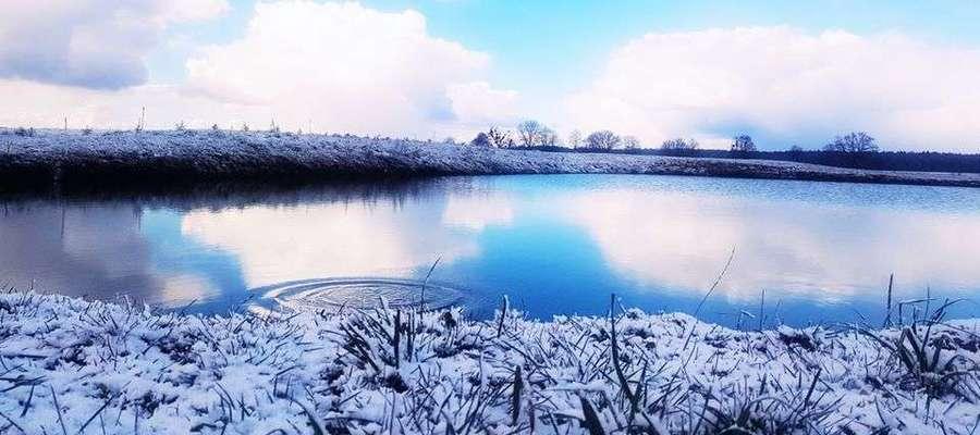Wiosenna zima w Osiece.