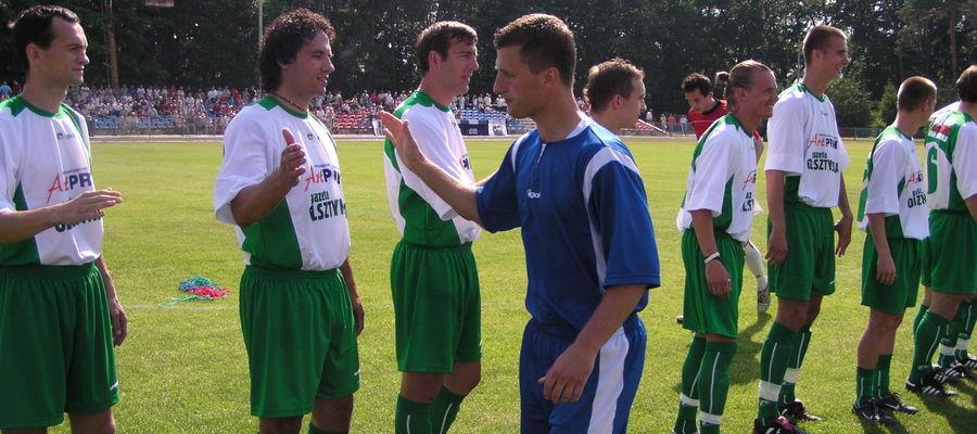Piłkarski mecz Kadra WMZPN — Gwiazdy w Bartoszycach (czerwiec 2005)