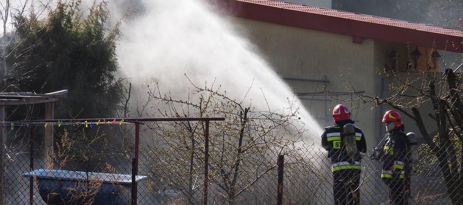 Kłeby dymu były widoczne z kilku kilometrów
