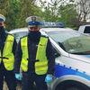 Policjanci eskortowali rodzącą kobietę do szpitala w Olsztynie