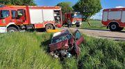 Wypadek na trasie Kętrzyn - Bartoszyce. Dwie osoby trafiły do szpitala [GALERIA]