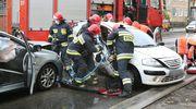 Seria wypadków i kolizji na drogach Olsztyna trwa. Na ul. Limanowskiego zderzyły się dwa samochody [ZDJĘCIA]