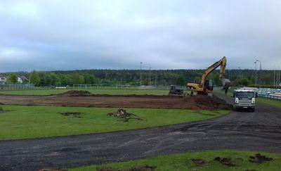 Mławski stadion już w przebudowie
