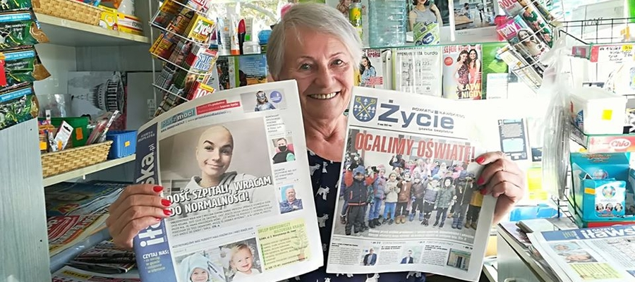 Nasze gazety dostępne są m.in. w kiosku pani Marii Sobocińskiej na os. Podleśne w Iławie (ul. 1 Maja)
