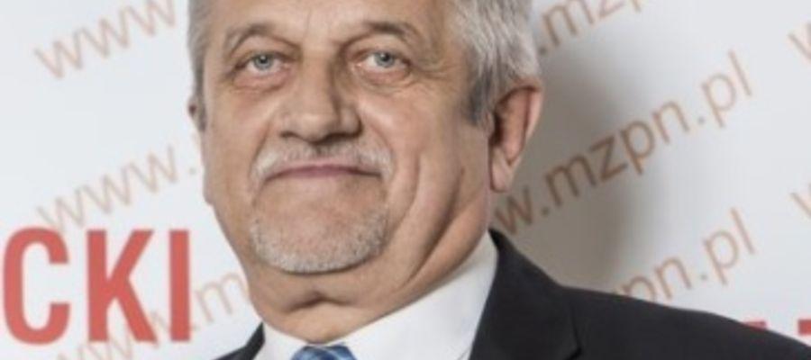 Prezes Mazowieckiego ZPN Zdzisław Łazarczyk