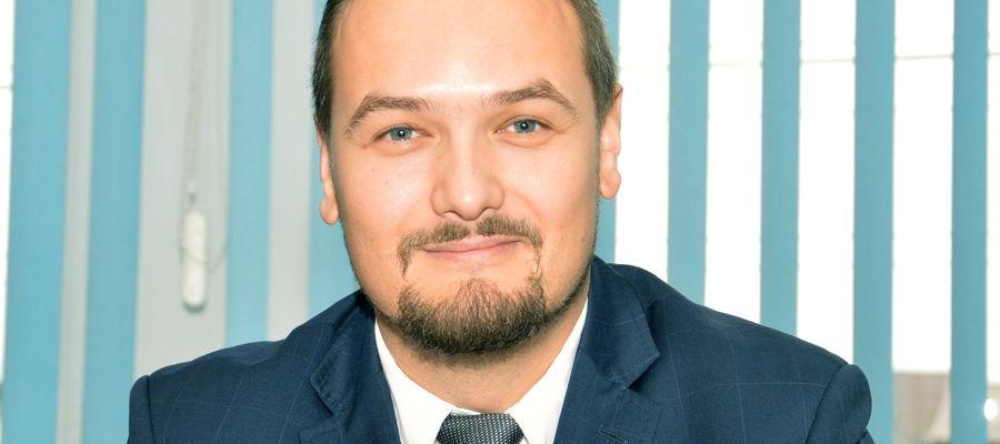 Radny Marcin Olczak był najbardziej entuzjastycznie nastawiony do wniosku inwestora