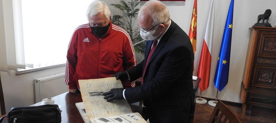 Trener Mirosław Urbanowski z wizytą u burmistrza Józefa Blanka